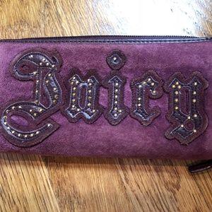 Juicy Couture Purple Velvet Zip Around Wallet